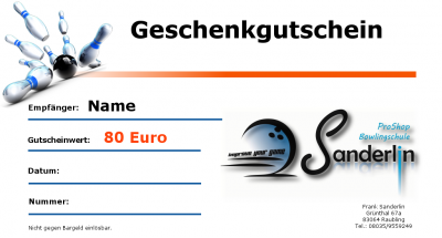 Gutschein 80 Euro