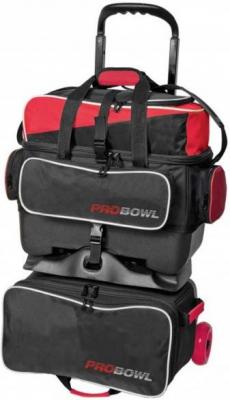 ProBowl 4-Ball Roller Schwarz/Rot