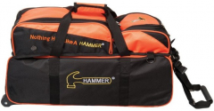 Hammer Triple Tote Bl/Or w/removable Pouch