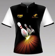 Storm Strike Black Bowlingshirt