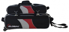 900 Global 3-Ball Deluxe Airline Schwarz/Rot/Silber