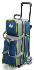 Brunswick Crown Deluxe Triple Roller Navy/Lime