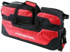 ProBowl Triple Tote mit Schuhtasche Schwarz/Rot