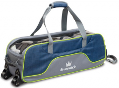Brunswick Crown Deluxe Triple Tote Navy/Lime