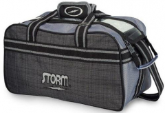 Storm 2-Ball Tote Plaid/Grey/Black