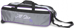 Roto Grip 3-Ball Travel Tote Roller White/Purple