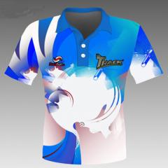 Track Ball Blue Polohemd