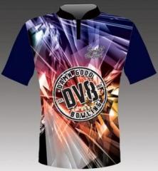 DV8 Mirror Navy Blue Bowlingshirt